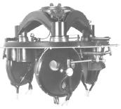 Manufacture of the first three-gyro compass